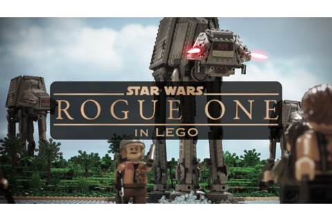 Rogue One: A Star Wars Story in LEGO! - YouTube