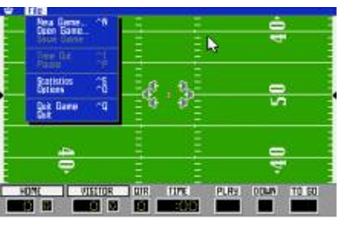 Playmaker Football Download (1991 Sports Game)