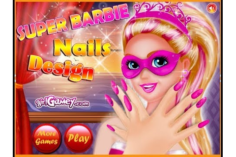 Barbie Dress Up Games - Barbie Nail Design Games - YouTube