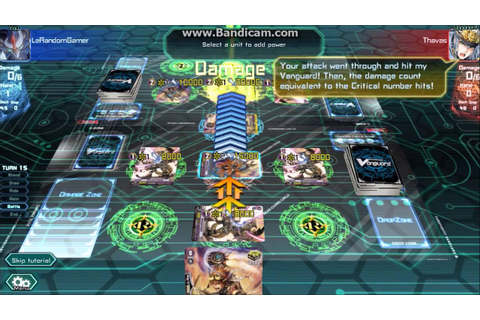 Cardfight Vanguard Online Playthrough Part 1 Tutorial ...