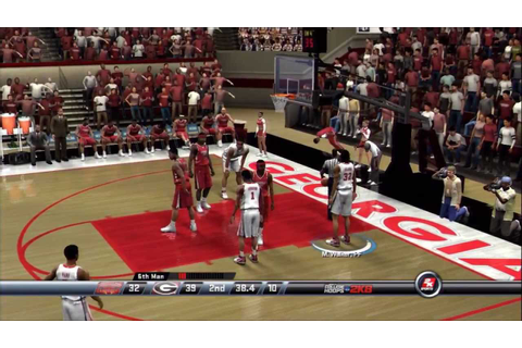 College Hoops 2K8 - My Player - UGA - 1st Game - YouTube