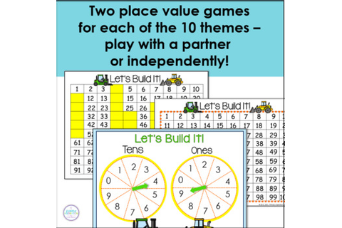 Hundred Chart: 20 Game Boards for 10 Primary Themes | TpT