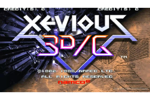 Xevious 3D/G 1995 Namco Mame Retro Arcade Games - YouTube