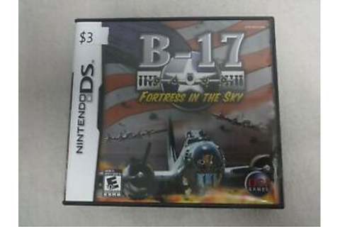 B-17 Fortress In The Sky Nintendo DS Video Game & Case, No ...