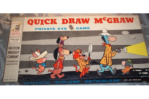 "QUICK DRAW McGRAW - 1960 ""Private eye game"" Vintage Board ..."