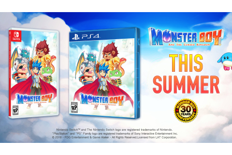 Monster Boy and the Cursed Kingdom PS4 and Switch physical ...