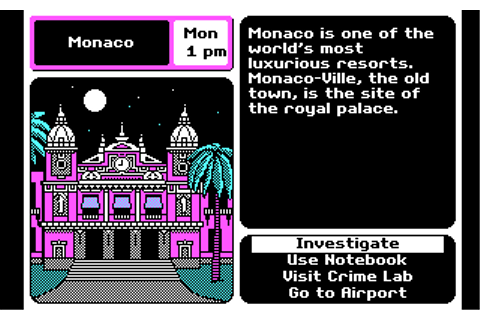 Where in Europe is Carmen Sandiego? game at DOSGames.com