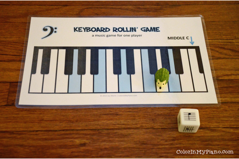 Keyboard Rollin' Game - Color In My Piano