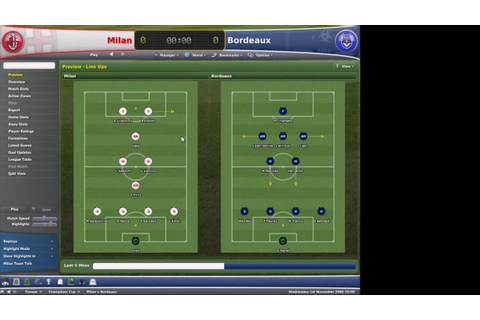 Football Manager 2007 gameplay 01 - YouTube