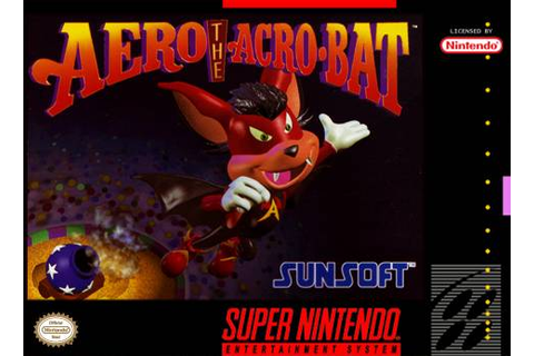 Aero the Acrobat SNES Super Nintendo