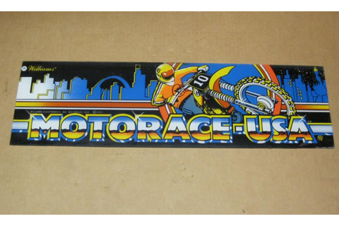 Williams Motorace USA Arcade Game Marquee / Header for ...