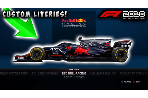 F1 2018 Game News | Custom Car Liveries And Features ...