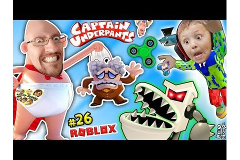 CAPTAIN UNDERPANTS useless FIDGET SPINNER! ROBLOX MOVIE ...