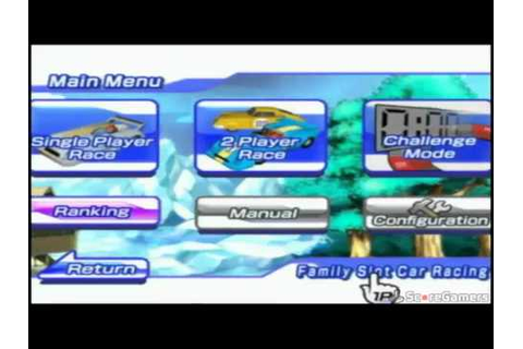 Family Slot Car Racing Wii Trailer - YouTube