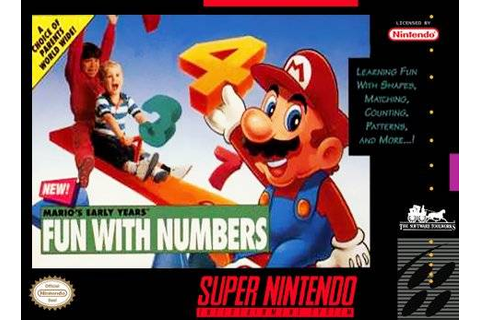 Mario's Early Years - Fun with Numbers SNES Super Nintendo
