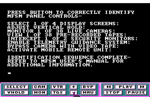 Hacker II: The Doomsday Papers (1986 - DOS). Ссылки ...