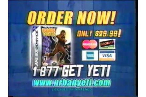 Urban Yeti - GBA - Gameboy Advance Video Game Commercial ...