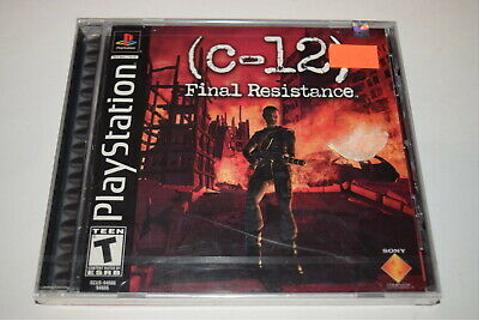 C-12 Final Resistance Playstation PS1 Video Game New ...