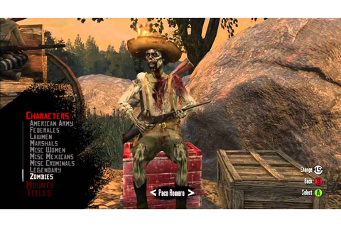Red Dead Redemption multiplayer zombie characters - YouTube