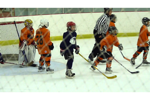 Kids Ice Hockey Game - end of game - YouTube