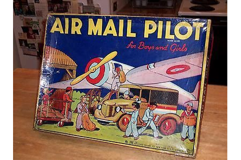 "Details about ANTIQUE BOARD GAME ""AIR MAIL PILOT"" 20s 30s ..."
