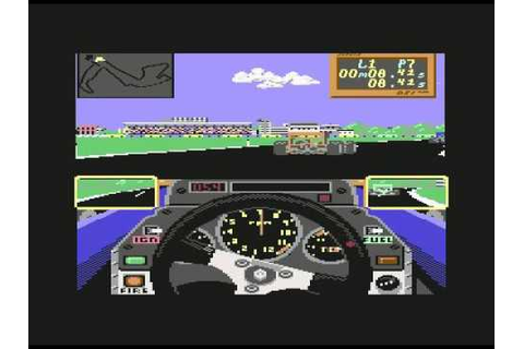Gameplay: Grand Prix Circuit - Commodore 64 - Accolade ...
