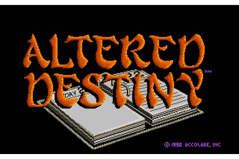 Download Altered Destiny adventure for DOS (1990 ...
