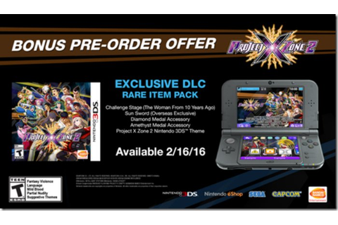 Project X Zone 2 pre-order bonuses detailed - Just Push Start