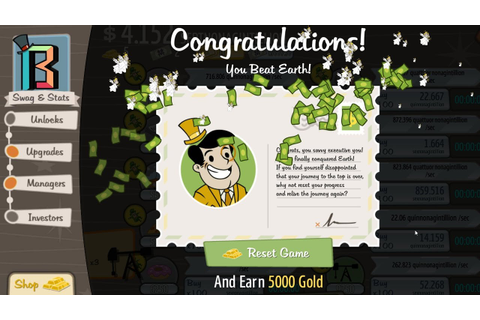 I BEAT THE GAME! AdVenture Capitalist 125 - YouTube