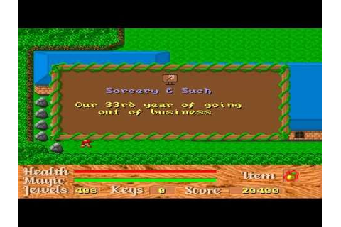 God of Thunder Game Sample - PC/DOS - YouTube