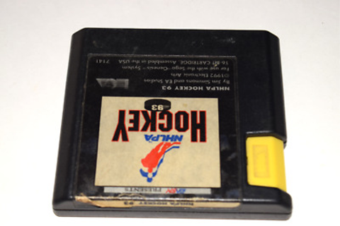 NHLPA Hockey '93 Sega Genesis Video Game Cart 14633071412 ...