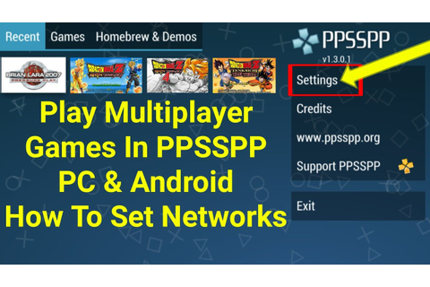 Play Multiplayer Games In PPSSPP PC-Android How To Set ...