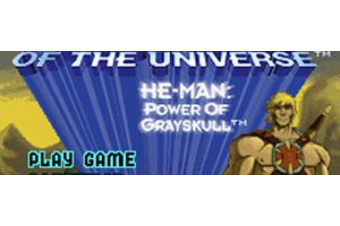 Masters of The Universe He Man Power of Grayskull GBA Rom ...