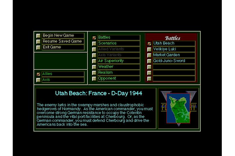 V for Victory: Utah Beach Download (1991 Strategy Game)