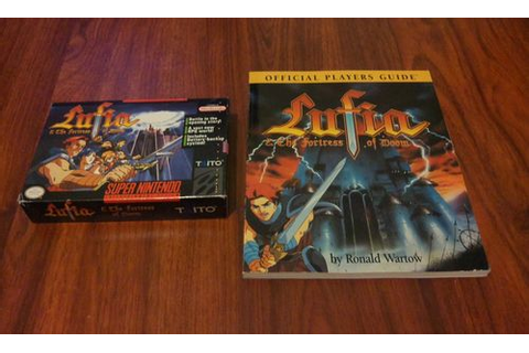 Lufia and the Fortress of Doom SNES RPG + Strategy Guide ...