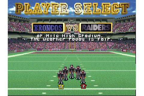 NFL Quarterback Club 32X Screenshots | GameFabrique