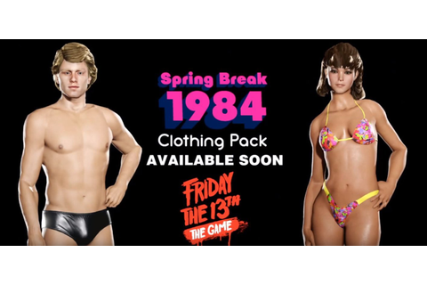 Friday the 13th: the Game Spring Break 1984 Clothing Pack ...