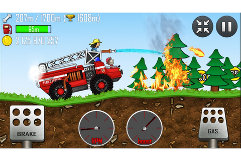 Hill Climb Racing - FIRE TRUCK in FOREST | GamePlay - YouTube