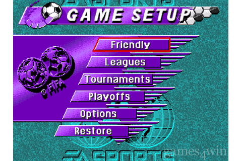 Fifa Soccer '95. Download and Play Fifa Soccer '95 Game ...