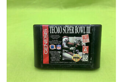 Sega Genesis Tecmo Super Bowl III Final Edition Game Rated ...
