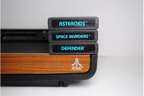 Asteroids, Space Invaders, and Defender Atari 2600 Game ...