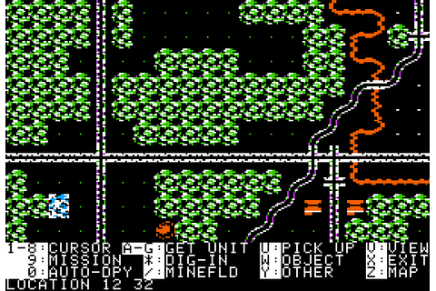 Panzer Strike! (1987) by SSI Apple II E game