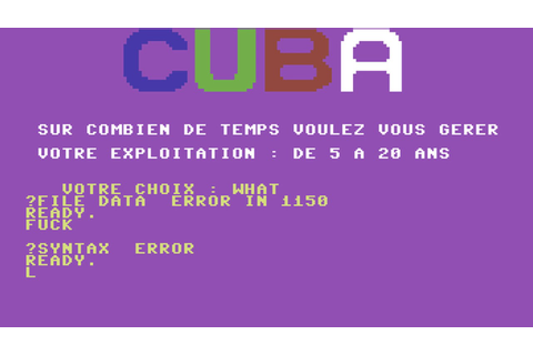 C64 Game: Plantation de Cuba | FunnyCat.TV