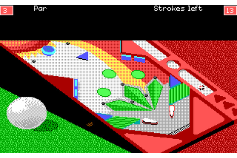 Download Zany Golf sports for DOS (1988) - Abandonware DOS