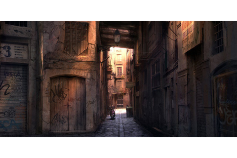 Barcelona Alleyway Sunlight Picture (2d, architecture ...