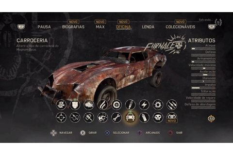 Mad Max (game) - Car Body/Carroceria - Furnace - YouTube
