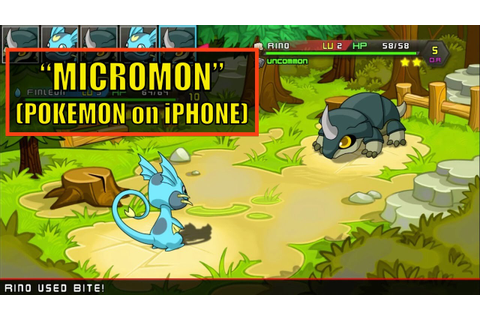 MicroMon - Pokemon Clone for iPhone - Does it Suck? - YouTube