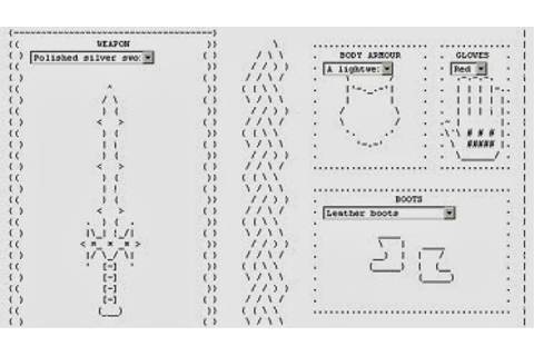 How to Play Candy Box 2, ASCII RPG