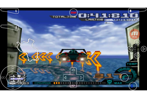 Android Nintendo 64 N64 MegaN64 Emulator AeroGauge Game ...