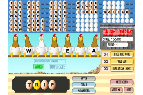 Chicktionary word game: An egg-citing word game! Free ...